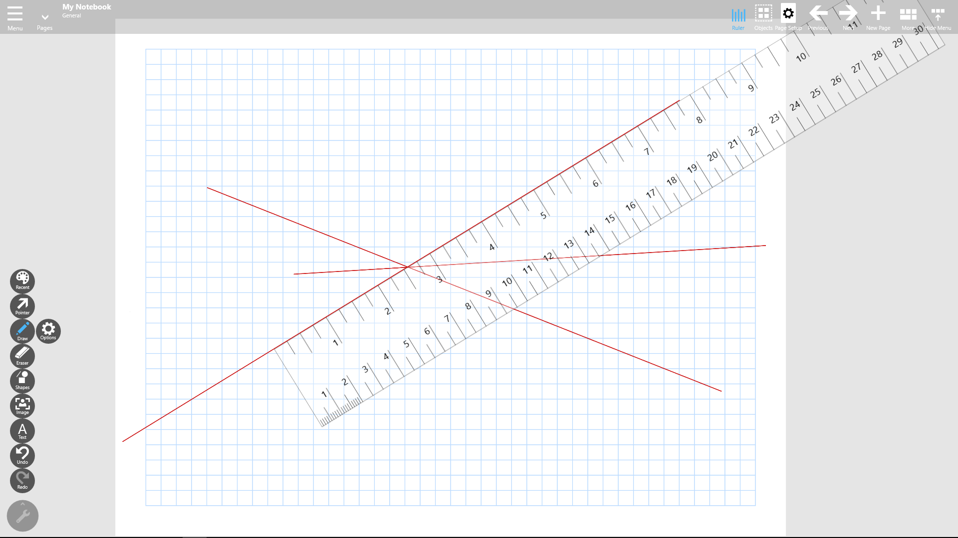 Drawing Lines With A Ruler Ks : Notebook pro gets virtual rulers for digital paper